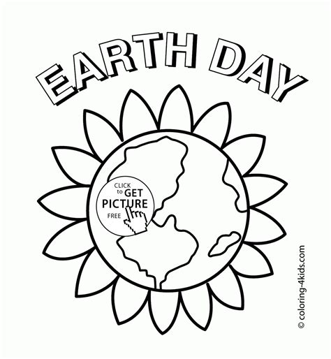earth earth day coloring page for coloring