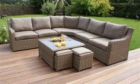 The Excellent Guide for Buyers to Buy Rattan Garden Furniture Corner Sofa Natural Rattan Garden