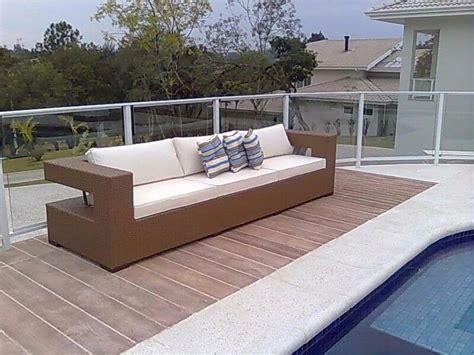 sofa de vime para area externa sofa 3 lugares para piscina jardim area externa fibra