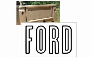 1957 63 ford f100 f350 tailgate letter decal kit With ford tailgate letters