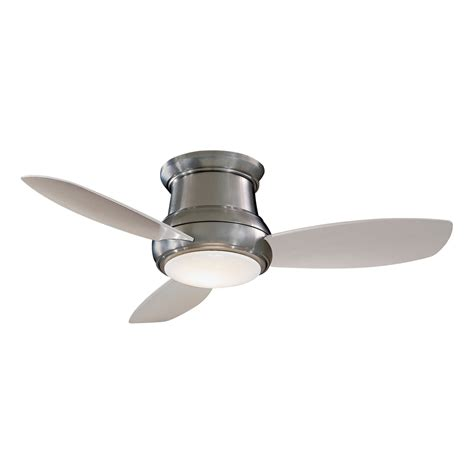 flush ceiling fans with lights minka aire f518 44 in concept ii flush mount ceiling fan