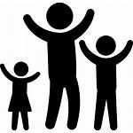 Icon Children Arms Father Raising Silhouette Silhouettes