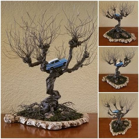 diy harry potter whomping willow wire tree  flying