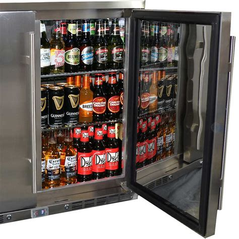 all stainless steel alfresco 2 door bar fridge