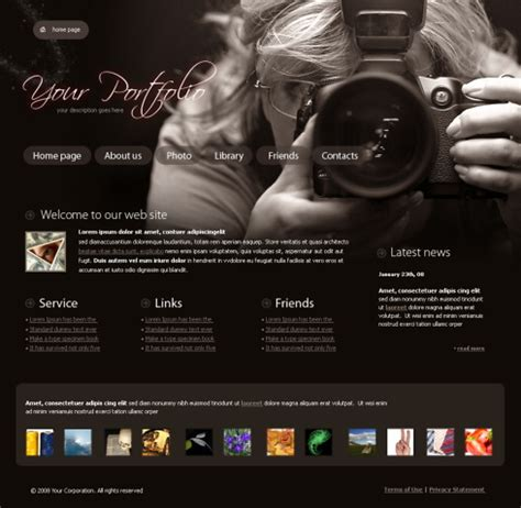 photography website templates doliquid
