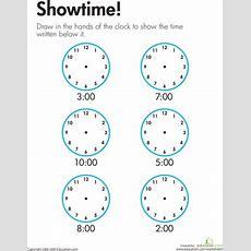 Telling Time Showtime!  Worksheet Educationcom
