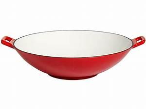 Wok Gusseisen Kaufen : wok aus gusseisen 37 cm rot wei emailliert ebay ~ Markanthonyermac.com Haus und Dekorationen