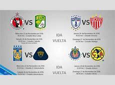 Liga MX Definidos horarios y fechas de los cuartos de