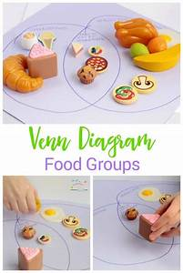 Venn Diagram Food Groups  Preschool Nutrition Activity