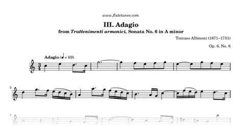 Adagio From Trattenimenti Armonici, Sonata No. 6 In A