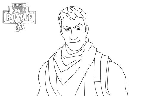 Fortnite Character Man Smiling Coloring Page