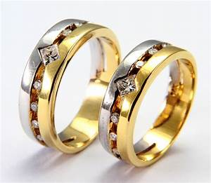 Wedding rings from white and yellow gold ipunya for Pics wedding rings