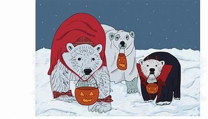 Polar Bears Halloween Children Peak Churchill Ruin