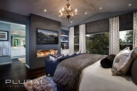 Modern Glam Master Retreat  Contemporary Bedroom
