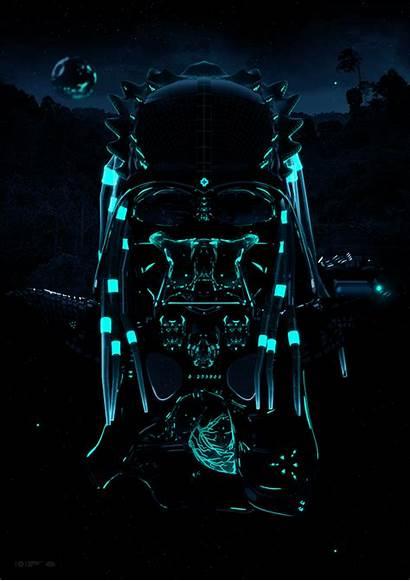 Death Neon Motion Behance Predator Studio Outstanding