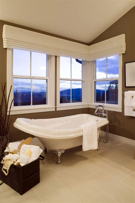 Dazzling valances window treatments in Bathroom