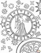 Virgo Zodiac Coloring Pages Sign Signs Printable Aries Gemini Star Pisces Drawing Supercoloring Colors Adult Mandala Adults Dot Main Paper sketch template