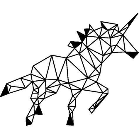 cuisine dessin animé sticker licorne en forme géométrique