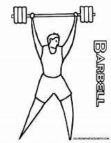 Coloring Sports Pages Printables Easy Drawing Cliparts Weight Colouring Boys Barbell Weightlifter Lifter Athletes Clipart Library Print Bodybuilder Clip Favorites sketch template