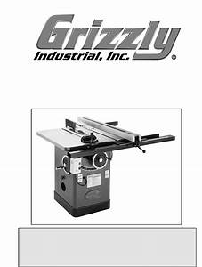 Grizzly Saw G1023s User Guide