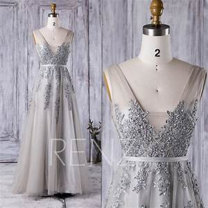 2016 long light gray bridesmaid dress square neck wedding With light gray wedding dress