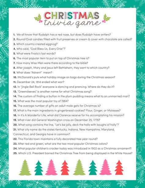 Free Christmas Trivia Game  Lil' Luna