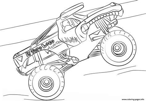 El Toro Loco Monster Truck Coloring Pages Printable