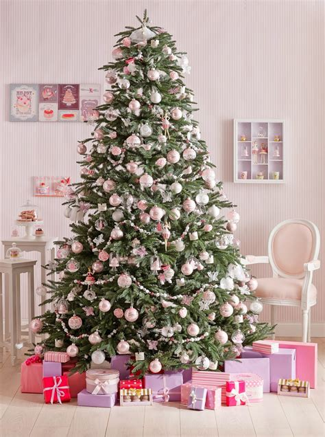 Decoration Sapin Blanc Et Rose
