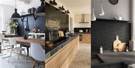 mur noir cuisine un mur noir dans la cuisine les brindilles