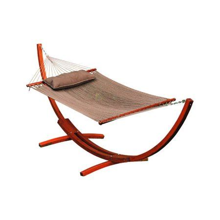 Hammock Co by Algoma 12 Ft Wooden Arc Stand With Caribbean Hammock And