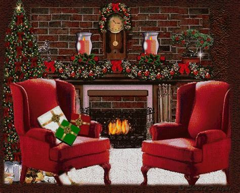Christmas Fireplace Graphics