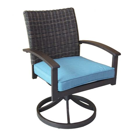 30852 dining chair cushion contemporary allen roth atworth 2 count brown wicker patio dining