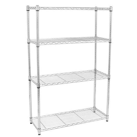 tier storage rack organizer kitchen shelving steel