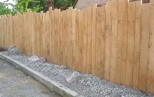 Idee De Cloture Pas Cher : cl ture et palissade verticale ne bois jardin clotures ~ Premium-room.com Idées de Décoration