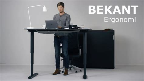 The New Ikea Bekant Sit Stand Desk Can Be Adjusted With