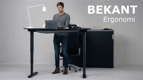 ikea bekant sitstand desk   adjusted