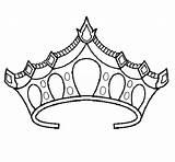 Crown Coloring Princess Pages Tiara Drawing Royal Prince Template Netart Sketch Printable Sheets Pretty Drawings Getdrawings Cool Adult Popular sketch template