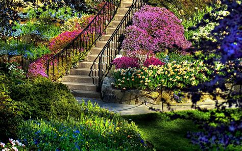 Wallpaper Of Garden by Garden Pictures For Backgrounds Wallpaper Cave