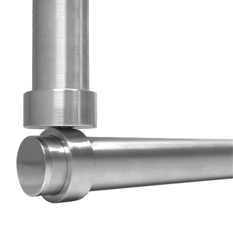 suspended wall to ceiling shower rod