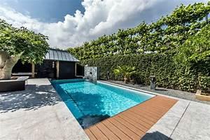 effektvolle poolgestaltung im garten With feuerstelle garten mit bonsai 600mm