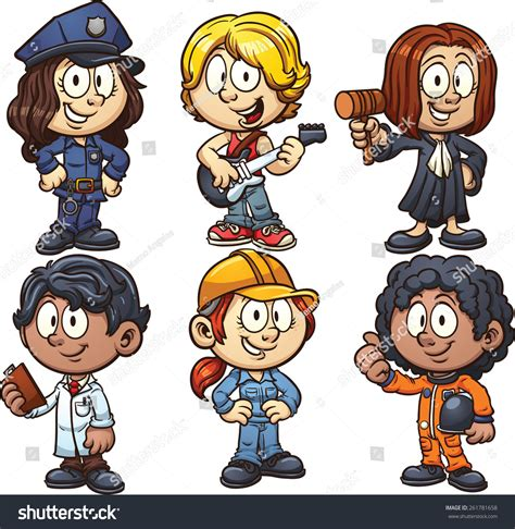 12202 different professions clipart using costumes for different occupations vector clip