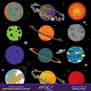 Planets and Space instant download digital clip art space