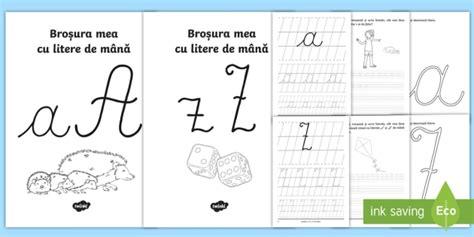 Broșuri Cu Scrierea Literelor De Mână Pachet  Alfabetul, Elemente