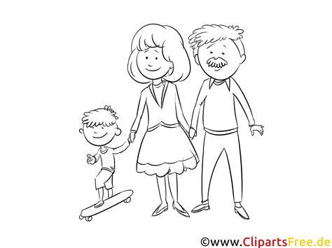 junge familie bild schwarz weiss zum drucken malen