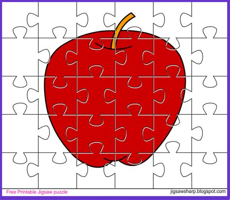 free printable jigsaw puzzle apple jigsaw puzzle