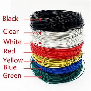 5 M  Roll Teflon Electrical Kabel Wires Insulated Colored