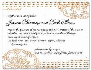 spanish wedding invitations on seeded paper feliz by With addressing wedding invitations in spanish