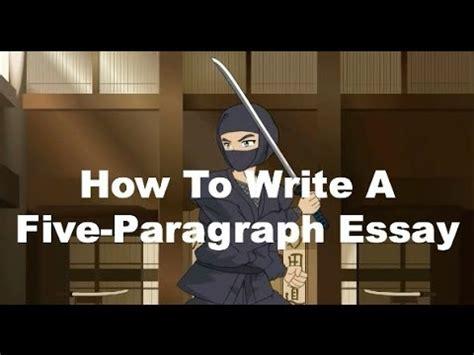 writing ninjas   write   paragraph essay youtube