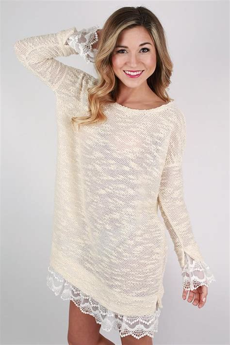 hello sweater hello sweater dress in ivory impressions