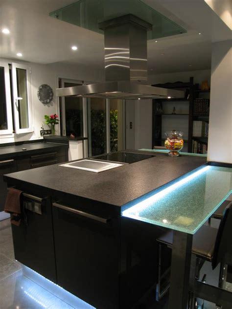 cuisine ilot central bar skconcept réalisation d 39 une cuisine ouverte agencé en l